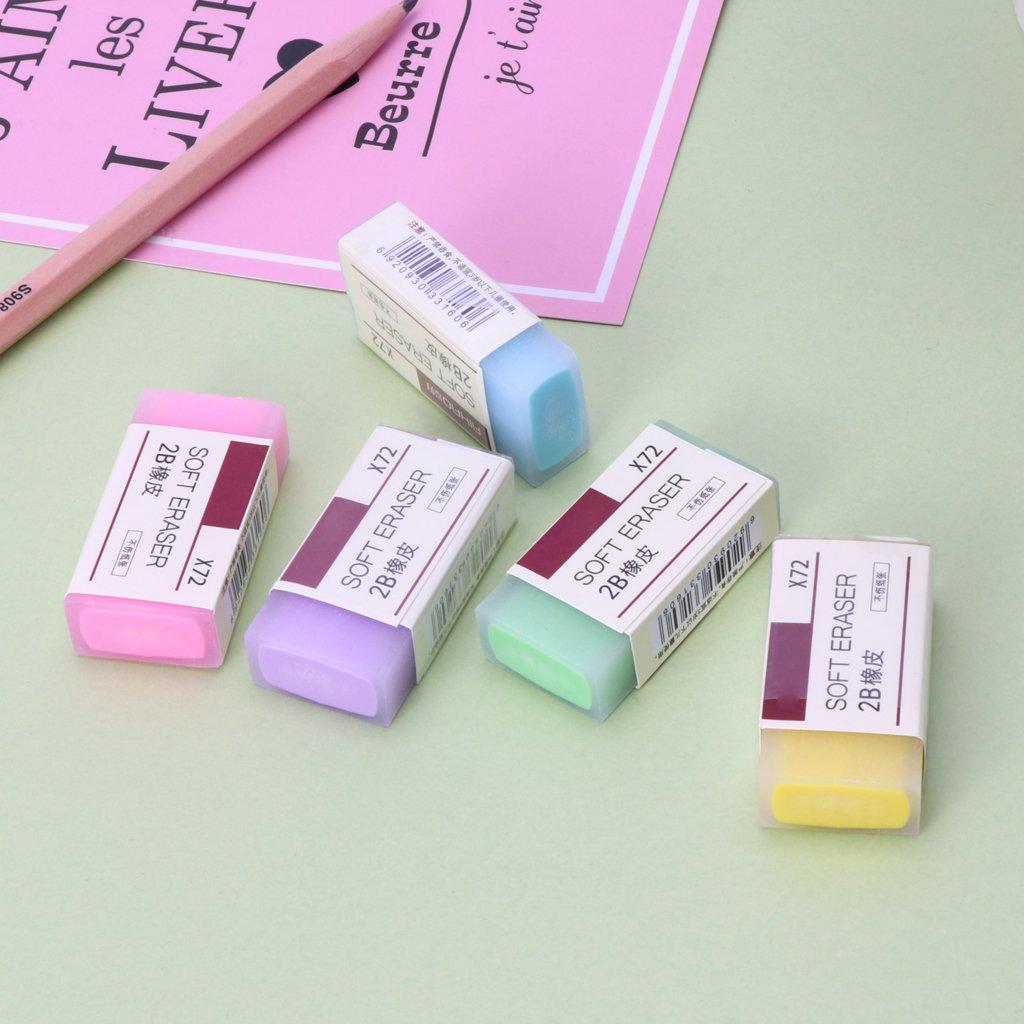 flessibili e durevoli colorate Kathope Gomme da cancellare a forma di cubo morbide