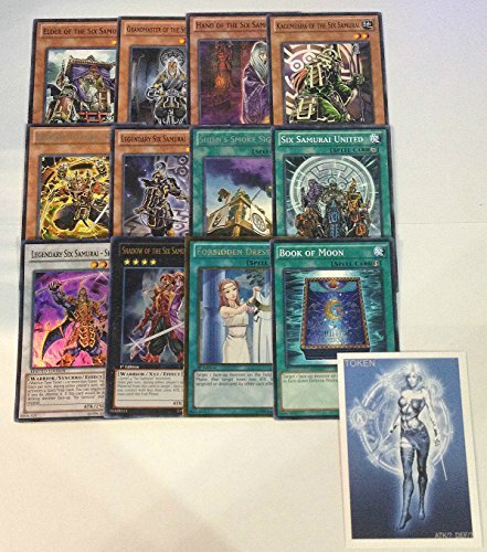 YUGIOH Tournament Ready Six Samurai Deck with Complete Extra & Side Deck and exclusive Phantasm Gaming Token + a Deck Box & 100 Sleeves
