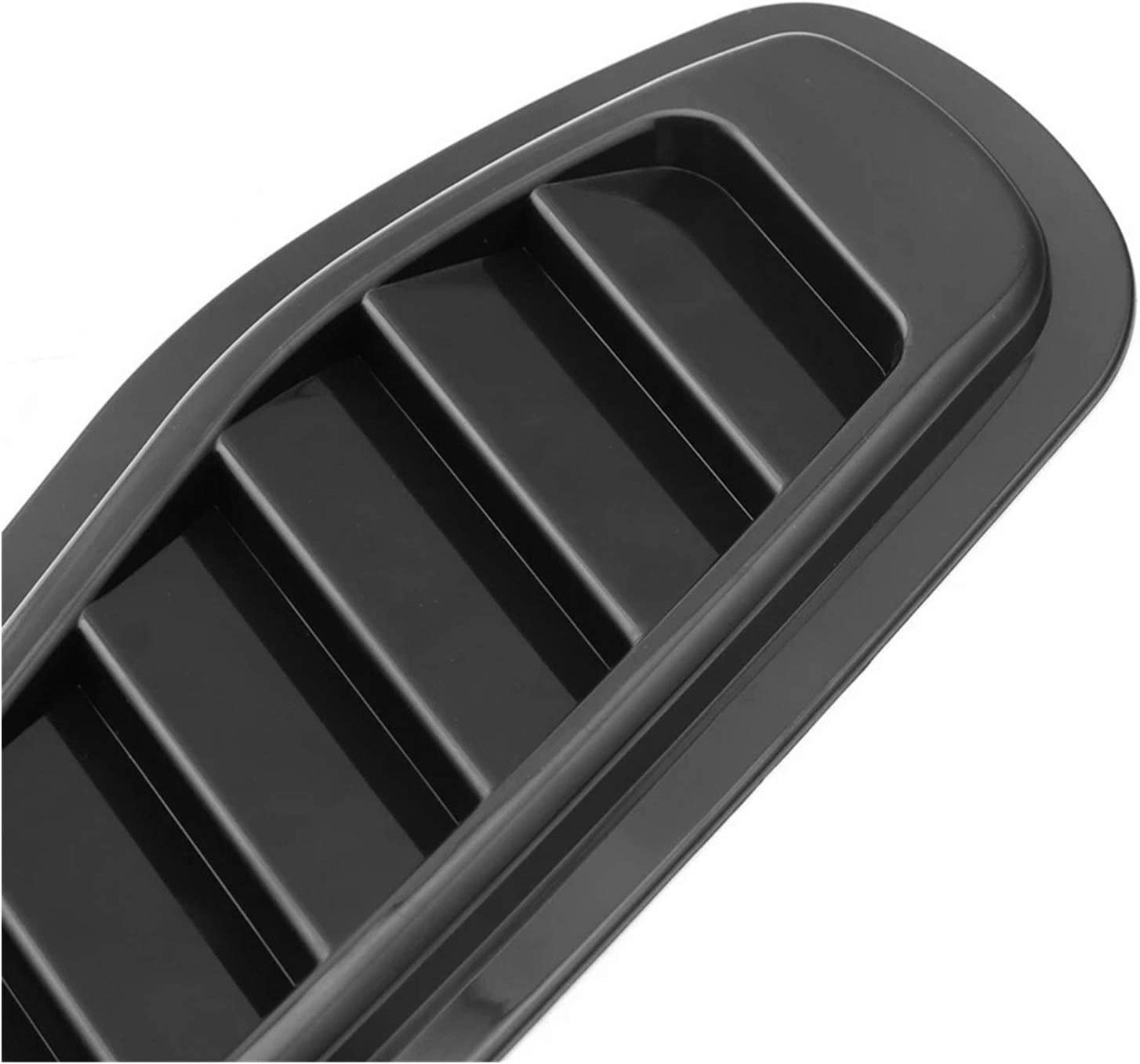 Color Name : Bright Black WSNDY Universal Car Carbon Fiber Look ABS Styling Sticker Decorative 2pcs Air Flow Intake Bonnet Vent Cover Hood Air Flow Fender Vent Cover Intake Grille
