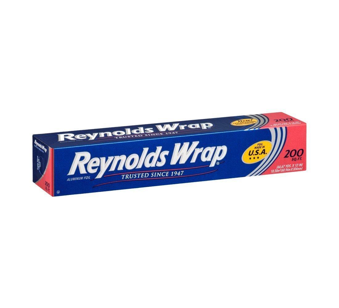 Reynolds Wrap Aluminum Foil, 200 Foot (Pack of 12)
