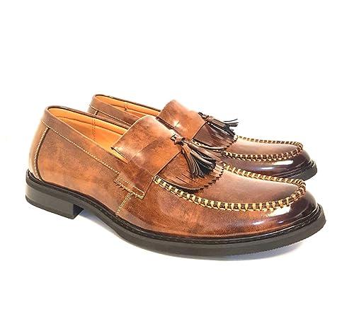 Top Gen - Mocasín de Charol Hombre, Color Marrón, Talla 44: Amazon.es: Zapatos y complementos