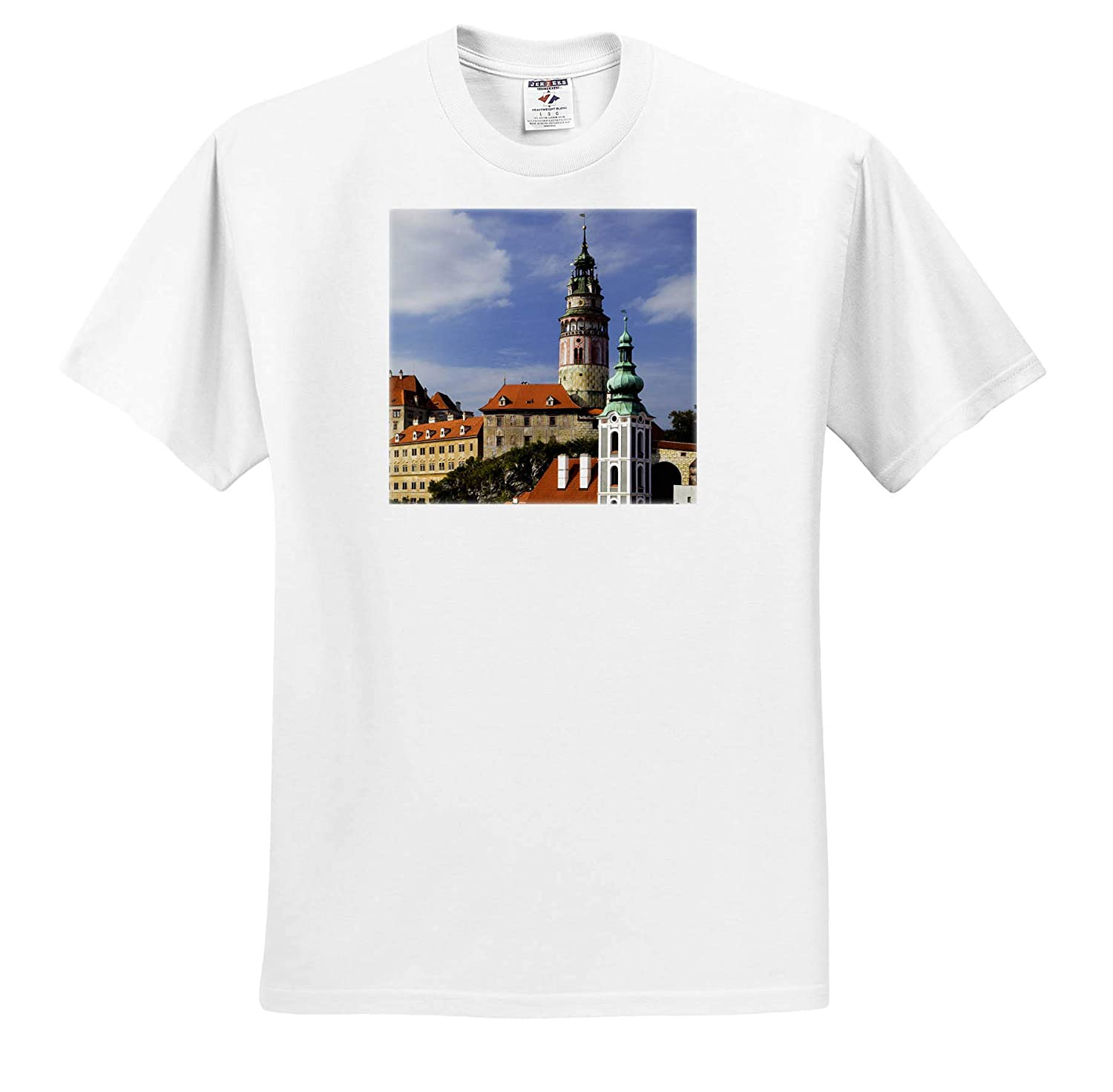 ts/_313070 Czech Republic Czech Republic - Adult T-Shirt XL 3dRose Danita Delimont Cesky Krumlov Overview of City