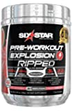 Six Star Explosion Ripped Pre Workout Thermogenic, Preworkout Energy, Weight Loss, Watermelon, 5.91 oz. (168g), 30 Servings