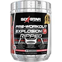 Six Star Explosion Ripped Pre Workout Thermogenic, Preworkout Energy, Weight Loss, Watermelon, 30 Servings, 5.91 Ounce, Pack of 1