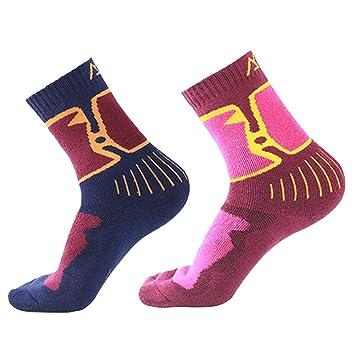 Calcetines térmicos de lana de merino para mujer, acolchado transpirable, para senderismo, calcetines