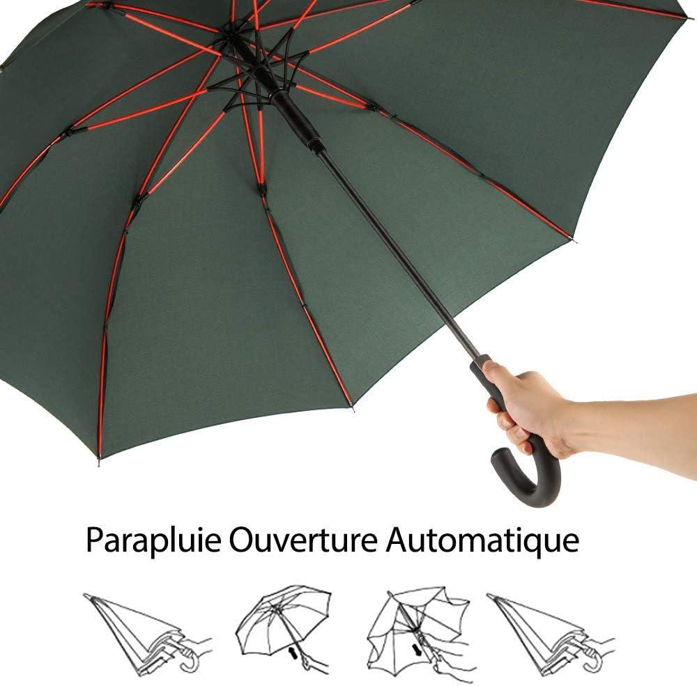 Triamisucake Coupe-Vent De Mode Transparent Clair Parapluie Automatique Parasol pour La F/ête De Mariage Favor Stand Inside Out Rain Protecting