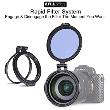 ROWEQPP ND Filter Quick Release Ring DSLR Camera Accessory Quick Switch Bracket DSLR Lens Flip Mount Clip 3.33 82mm