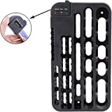 sourcingmap® Battery Organizer Removable Batteries Tester Wall Mount AAA/AA/C/D 9V Holder Storage 72 Batteries Rack