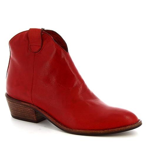 Leonardo Shoes Botines con Punta Hechos a Mano Mujer en Piel de ...