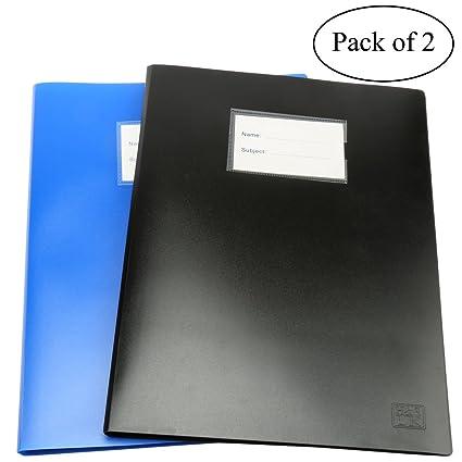 Archivador 2 x A4con 100bolsillos, tipo libro, carpeta de presentació
