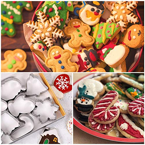 LOVEINUSA Christmas Cookie Cutters, Holiday Cookie Cutters Xmas Cookie Cutters Christmas Style Cookie Cutters for Xmas, Holiday, Wonderland Party Supplies, Favors