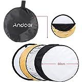 """Andoer® 24 """"60 centimetri 5 in 1 Photography Studio Portable Multi Photo Disc chiaro pieghevole riflettore"""