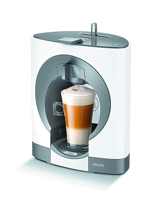 Krups Dolce Gusto Oblo KP1101 - Cafetera de cápsulas, 15 bares de presión, color blanco [Clase de eficiencia energética A+] (Reacondicionado Certificado): ...