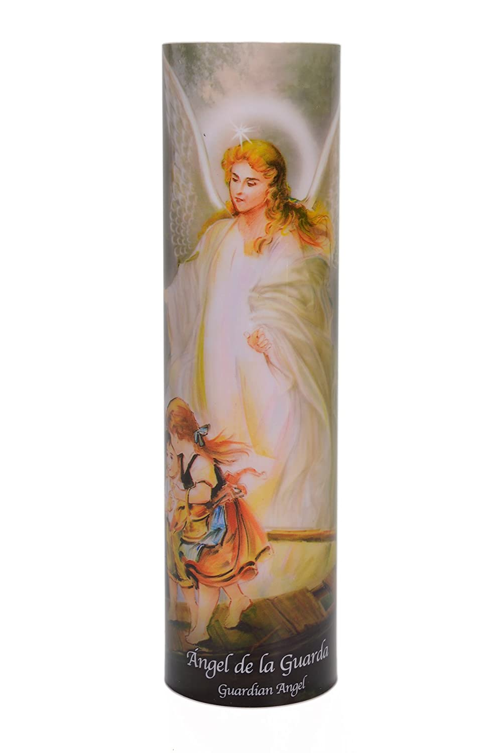 Guardian Angel, LED Flameless Devotion Prayer Candle, 4 Hour Timer, Religious Gift The Saints Gift Collection SB-5263A