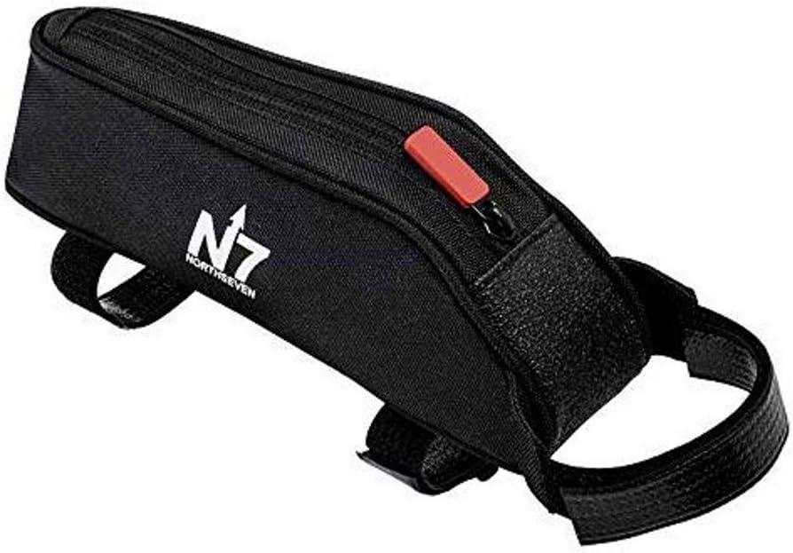 Northseven Small Top Tube Bag – Lightweight Aerodynamic Low Profile Frame Bag for Triathlons MTB Holds 6 Gels, Phone, Pump, Keys, Tools