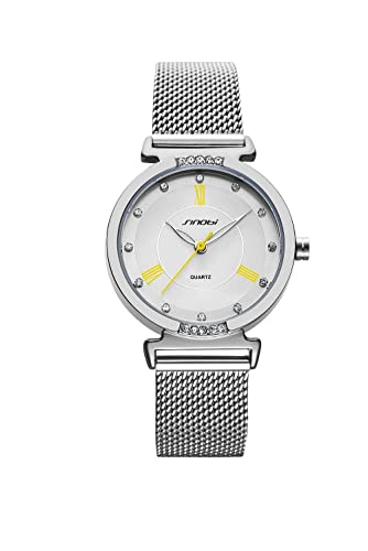 Shengke - Reloj de pulsera de cuarzo con correa de malla, para mujer, 2018, K006L: Amazon.es: Relojes