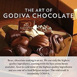 Godiva Chocolatier Chocolate Biscuit Holiday Gift Box, 36 Cookie Count