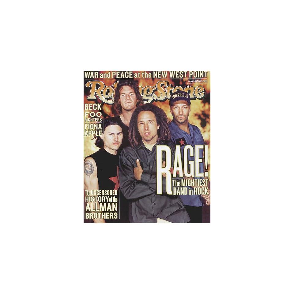 Rolling Stone Magazine # 826 November 25 1999 Rage Against The Machine (Single Back Issue)