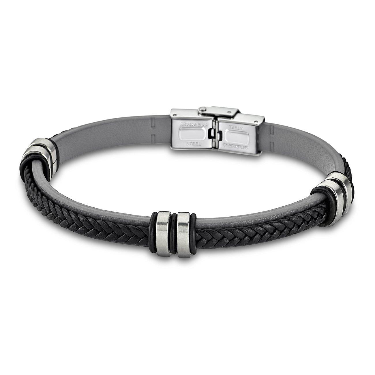 LOTUS Style Armband Damen Herren LS1829-2//1 Leder schwarz JLS1829-2-1