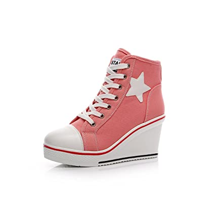 3316f8f7cfab5 Amazon.com: Women's Shoes Canvas Shoes 2018 New Spring Fall Slope ...