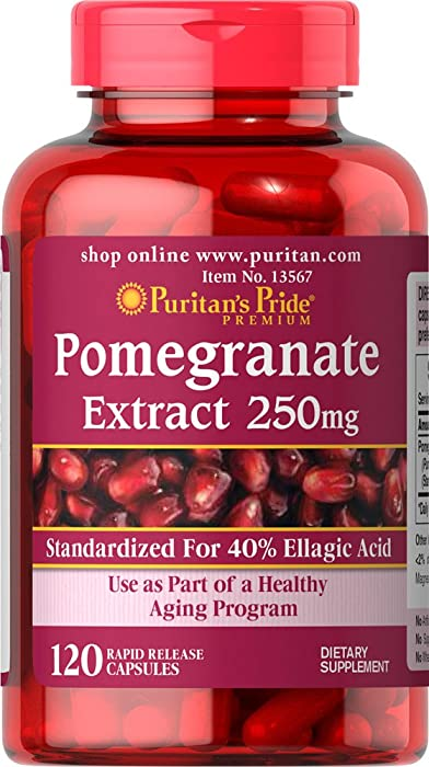 Puritans Pride Pomegranate Extract, 250 Mg, 120 Count