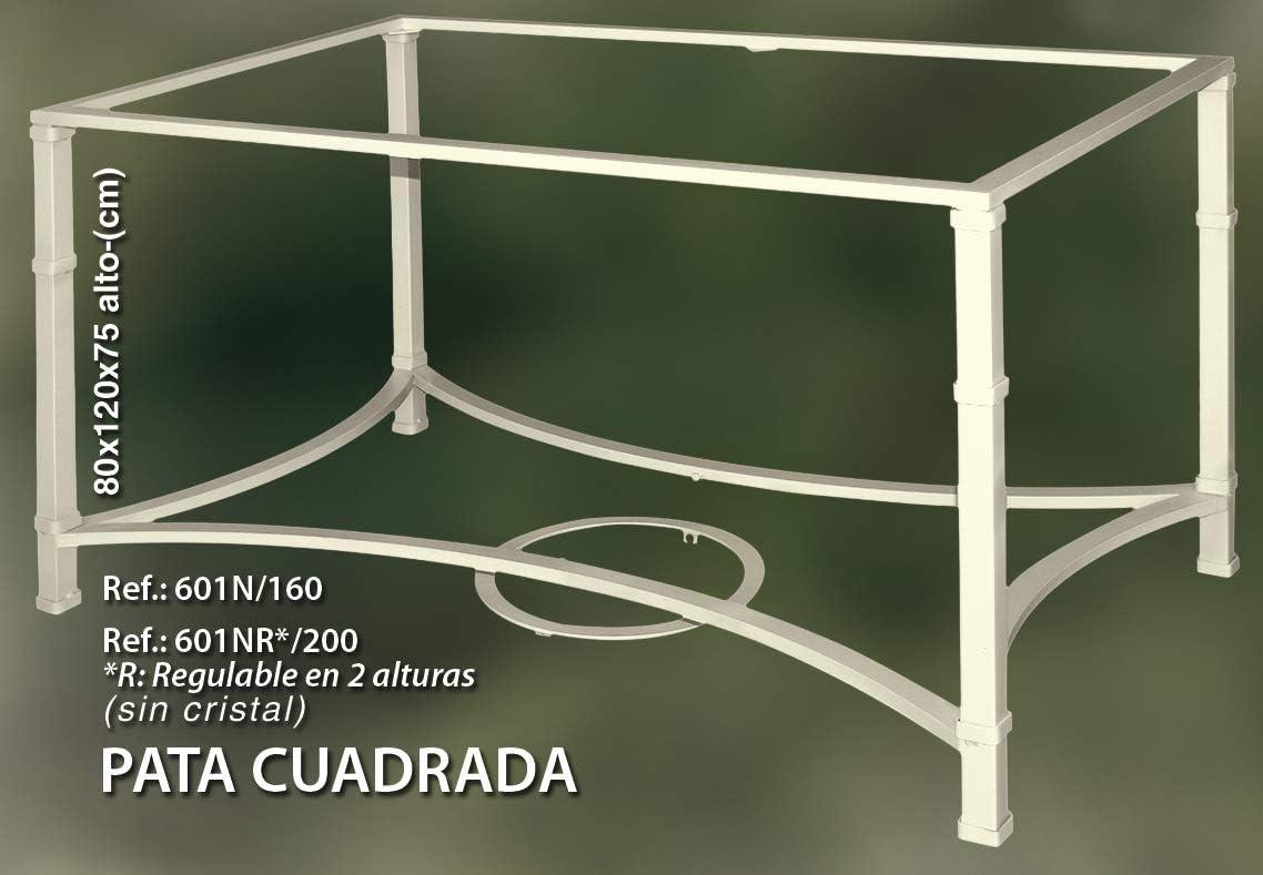 Rustiluz Mesa con Pata Cuadrada de forja, Altura Regulable 601nr ...
