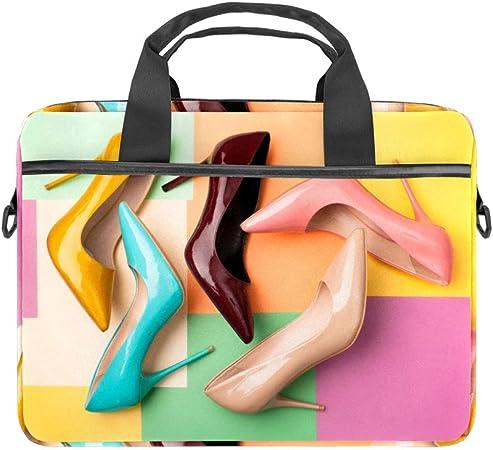 Gold Geometric ShapesLaptop Case Canvas Pattern Briefcase Sleeve Laptop Shoulder Messenger Bag Case Sleeve for 13.4-14.5 inch Apple Laptop Briefcase