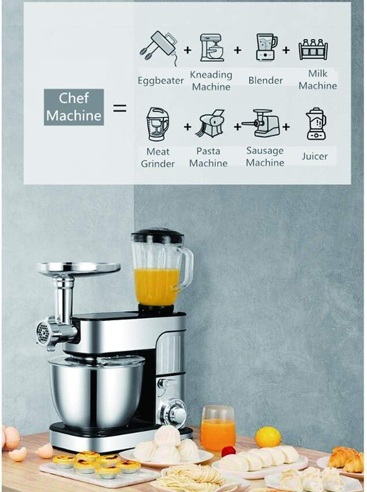 Küchenmaschine - Küchenmaschine, Mixer, 1000W, 5 Liter, Fleischwolf & Entsafter, 6-Gang, verschiedene Anbaugeräte, einfach zu bedienen und zu reinigen,5 in 1 3 in 1