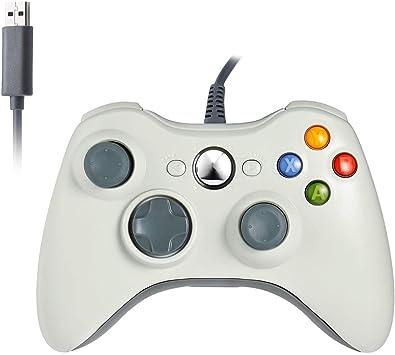 Reiso Xbox 360 Controller, 7.2 ft USB Wired Controller Gamepad Compatible con Microsoft Xbox 360 & Slim 360 PC Windows 7 (Blanco): Amazon.es: Electrónica