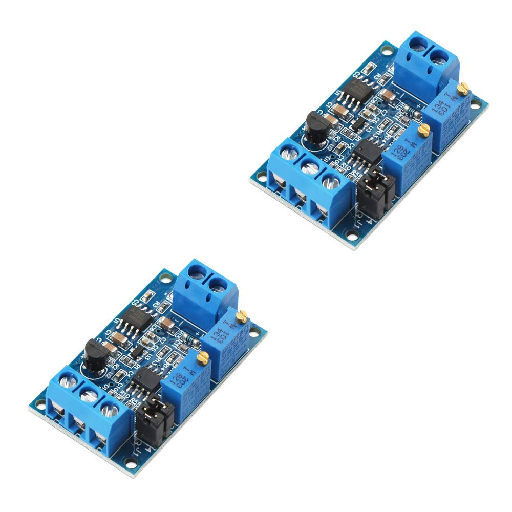 Ximimark 2Pcs Current to Voltage Converter Module 0/4-20mA to 0-3.3V 0-5V 0-10V Voltage Transmitter Signal Conversion Conditioning Board