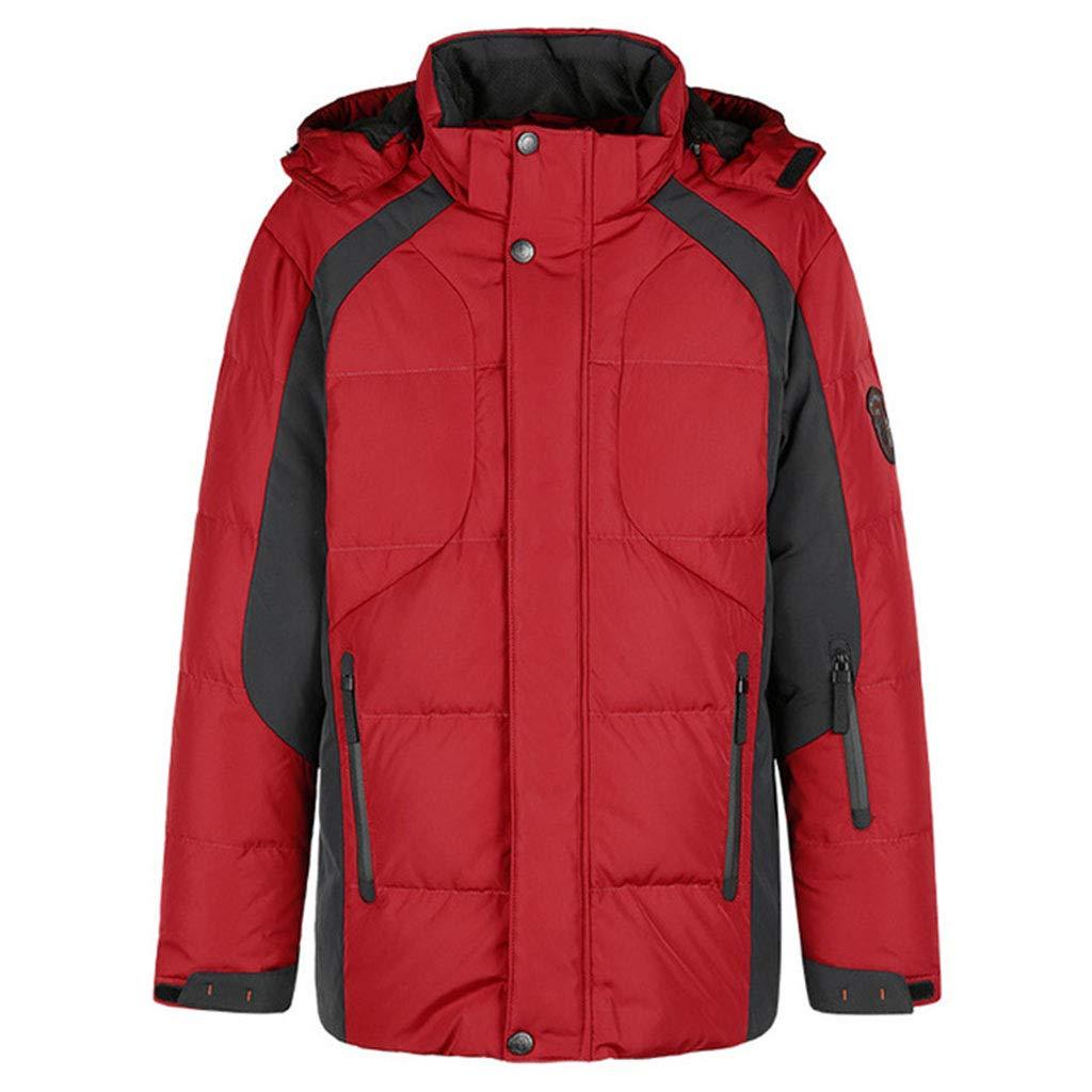 Hyvaluable Herren Jacken wasserdichte Fleece-Bergjacke für Herren Windproof Warm Ski Jacket Multi-Pockets