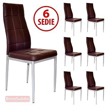 Sedie Per Sala Pranzo. Great Sedia Nera In Ecopelle Con Cuciture ...
