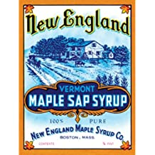 NE Syrup Metal Sign: Kitchen Decor Wall Accent