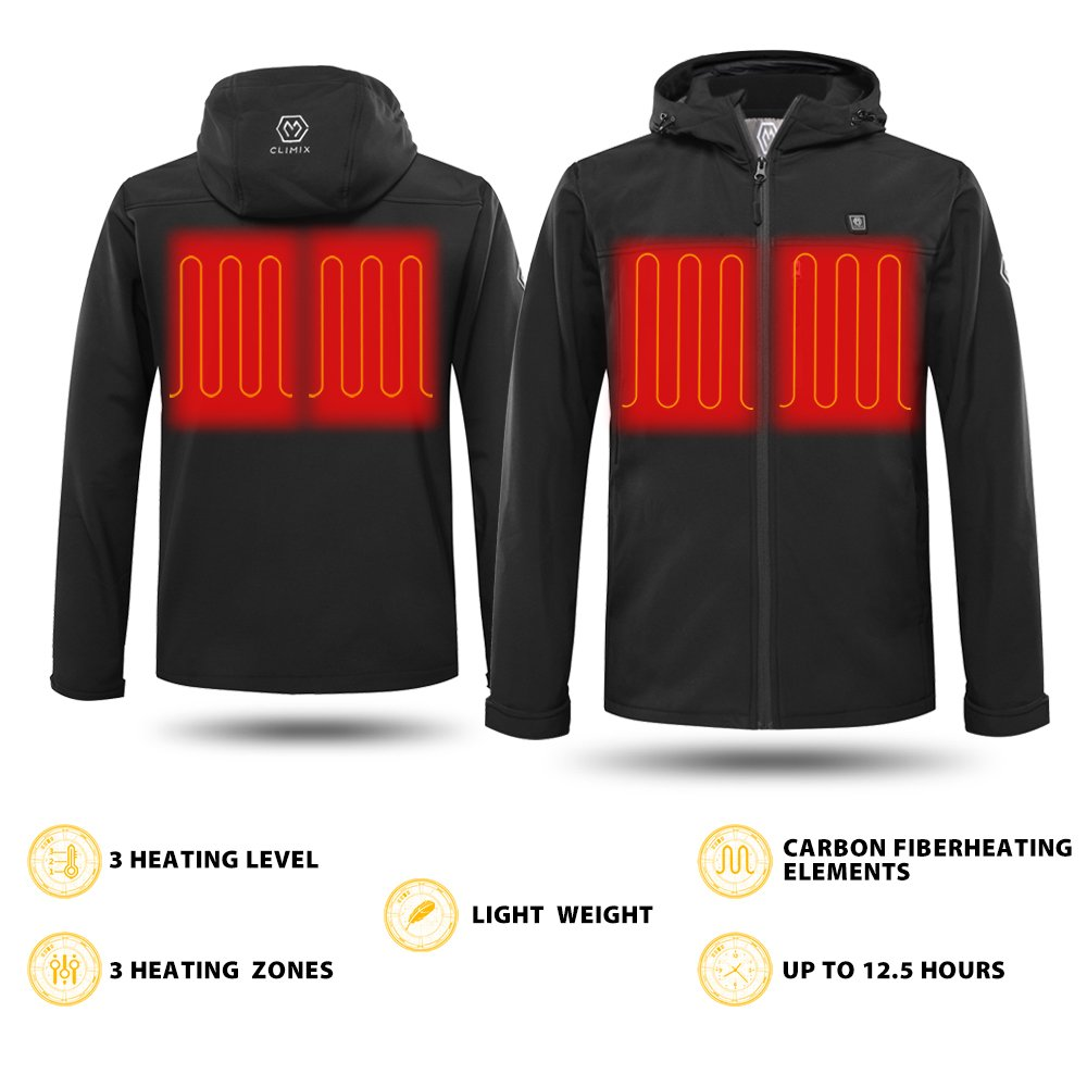 CLIMIX Men's Heated Jacket Kit with Battery Pack (L) by CLIMIX (Image #4)