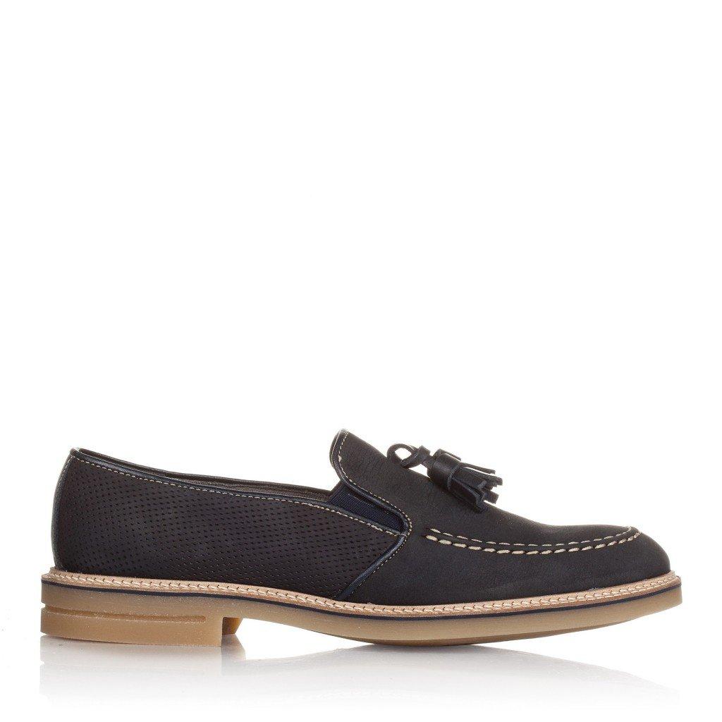 Castellanisimos Leder Bootsschuhe Herren Mokassins Blau