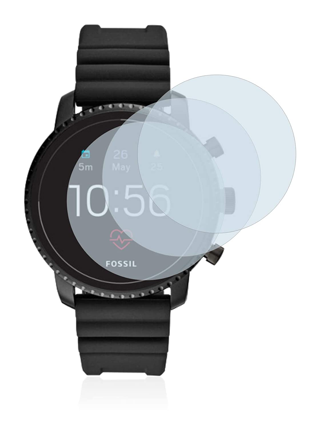 Savvies Verre Trempé Compatible avec Fossil Q Explorist HR (4.Gen) [3 Pièces] Film Protection Ecran 9H: Amazon.fr: High-tech