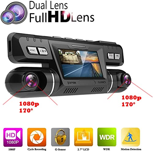 PolarLander WiFi Car DVR Video Vehicle Dash Camera Recorder Novatek 96660 Dashcam Dual Lens Full HD 1080P 170 Degree Black Box Dashboard with GPS Logger