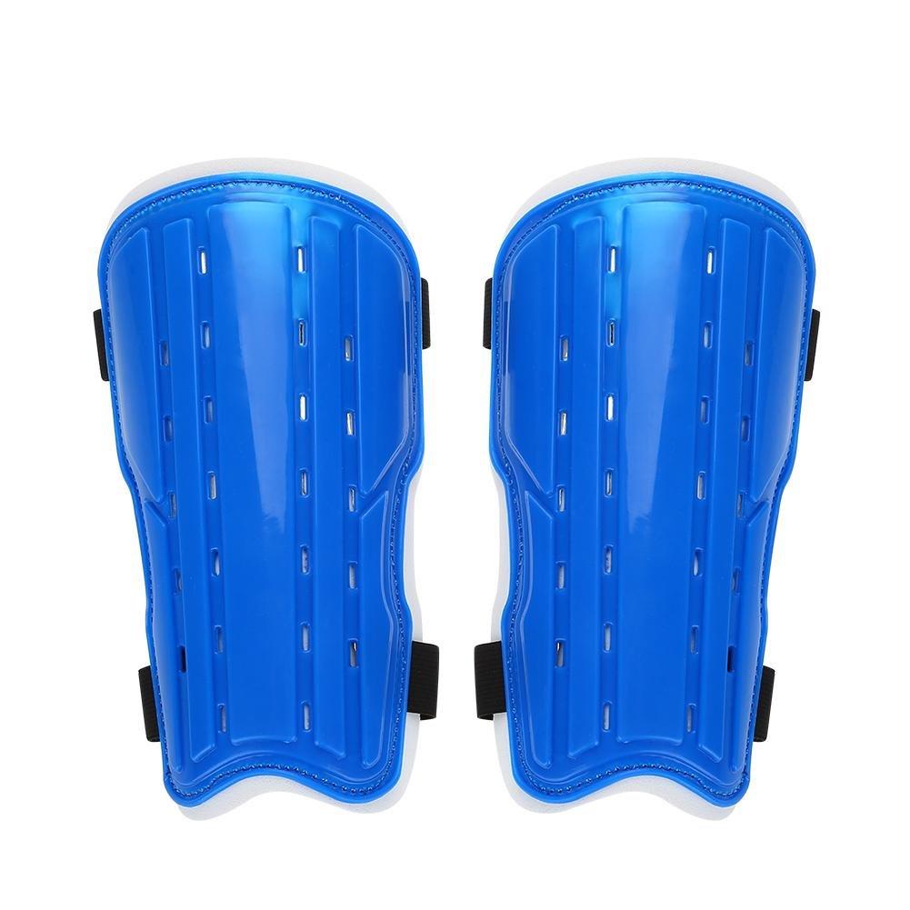 vgeby 1ペアサッカーShin Guard大人Soccer Shin Pad Perforated通気性サッカーすね当て B07C1X85TQ ブルー ブルー