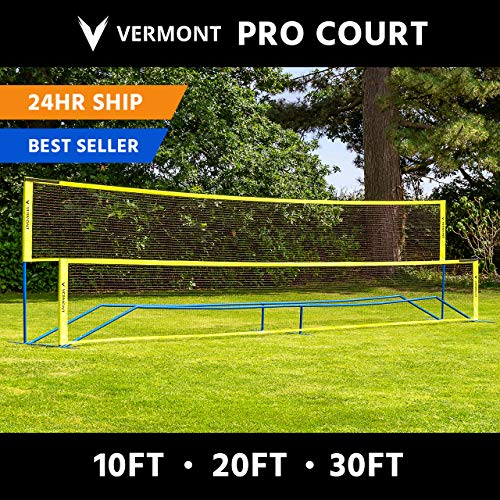 ProCourt Vermont Combi Net | Perfect for Tennis, Badminton, Pickleball, Volleyball & Soccer Tennis | Super Quick Assembly with Steel Poles | Use Indoors, Outdoors, On The Beach Or The Backyard!
