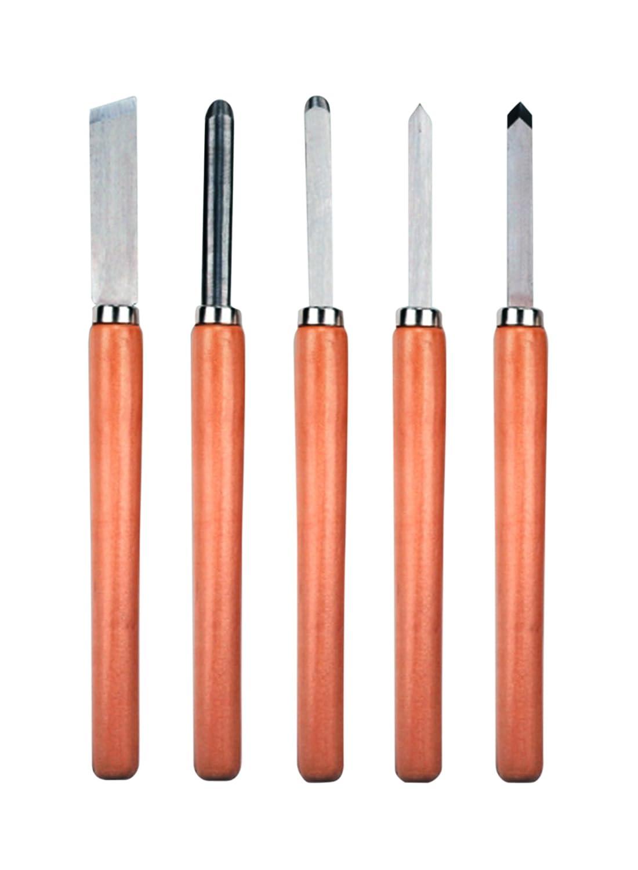 Einhell 4311200 Pack de 5 herramientas torneadores mango de madera