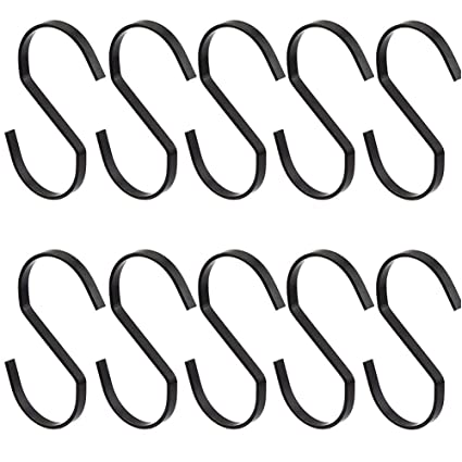 Towels Utensils Gardening Tools Pots for Kitchenware Clothes Heavy-Duty S Shaped Hook RuiLing 20 Pack 3.5 Inch Chrome Finish Steel Hanging Hooks