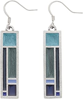 product image for DANFORTH - Riversong / Twilight Wire Earrings - 1 1/2 Inches - Handcrafted - Made in USA