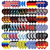 1. Niubixx Standard Dart Flights 30 Sets 90 Pcs Durable PET and Laser Replacement Feather Tail Wing - Perfect Accessories Equipment Supplies for Dart Games