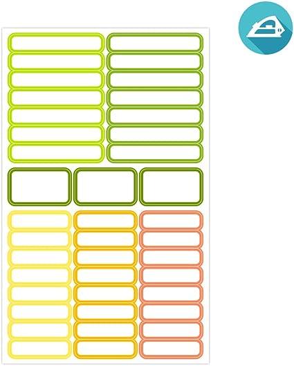 ETIKIDS 40 Etiquetas para ropa, de colores, personalizables para ...