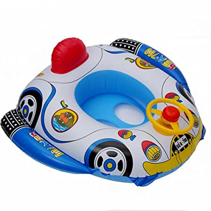 IYOWEL Inflatable Baby Float Seat BoatPopular Swimming Buggy BoatHorn Car