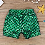 2Pcs Baby Girls Summer Mermaid Vibes Letter Printed Vest Tops Short Pant Sets 12-18 Months/Tag90