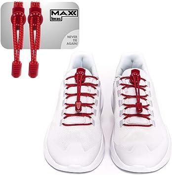 MAXX laces - Cordones elásticos con Cierre rápido sin Atar ...