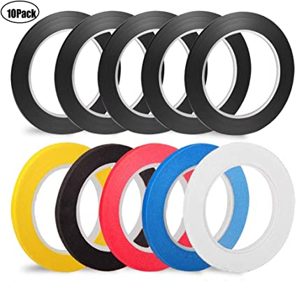 Graphic Chart Tape Art Tape Whiteboard Tape Vinyl Tape 12 Pacs 1//8 Self-a.. New