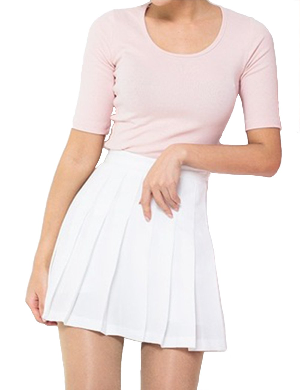 Imagine Girl's Short Pleated School Dresses for Teen Girls Tennis Scooters Skirts Skate Skirts WH-L
