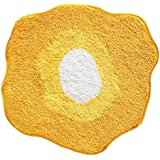 InterDesign Microfiber Poppy Floral Accent Rug For Bedroom And Bathroom    Yellow/White